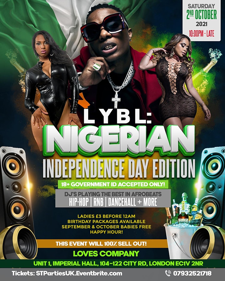 LYBL: Nigerian Independence Day Party Shoreditch image