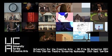 MA Filmmaking & MA Animation Graduation Screening tickets