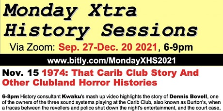 1974: That Carib Club Story And Other Clubland Horror Histories entradas