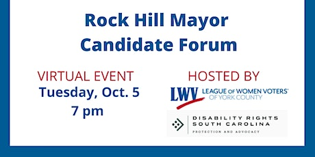 Rock Hill Mayoral Candidates Forum tickets