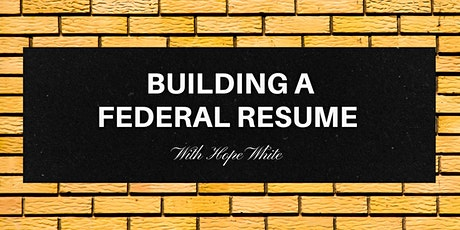 Building a Federal Resume tickets