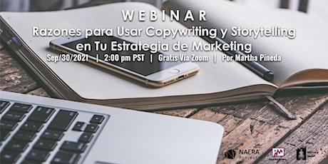 Razones para Usar Copywriting y Storytelling en tu  Estrategia de Marketing boletos