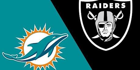 StREAMS@>! (LIVE)-Dolphins v Raiders LIVE ON NFL 26 Sep 2021 tickets