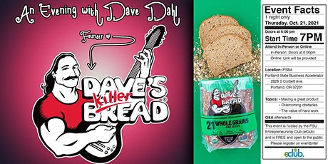 An Evening with Dave Dahl, Founder of Dave's Killer Bread tickets