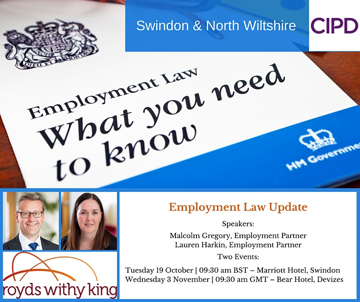 Return of the Employment Law Update - Presented by Royds Withy King image