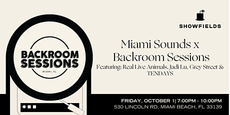 Miami Sounds: Indie Music Performances with Backroom Sessions tickets