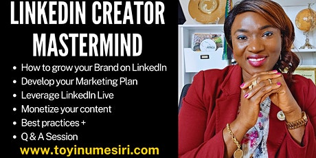 LinkedIn Creator Mastermind tickets