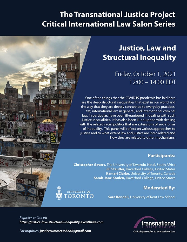 Justice, Law and Structural Inequality image