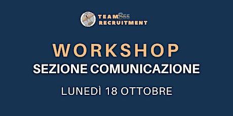 Workshop Comunicazione 18/10/21 biglietti