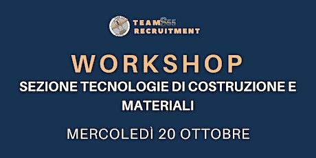 Workshop Materiali e Tecnologie di Produzione 20/10/21 biglietti