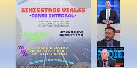 CURSO INTEGRAL EN SINIESTROS VIALES entradas