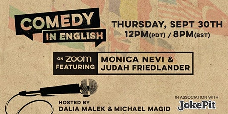 Comedy In English Online International Comedy Show tickets