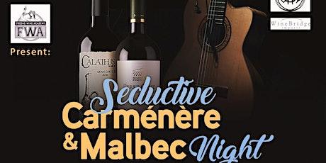 Seductive Carménère & Malbec Night tickets