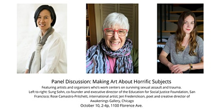 Panel discussion: Making Art About Horrific Subjects tickets