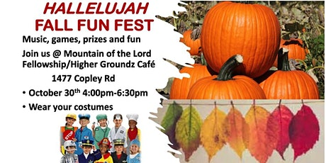 HALLELUJAH FALL FUN FEST; Music, Games, Prizes and Fun tickets