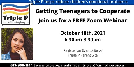 Triple P- Getting Teenagers to Cooperate tickets