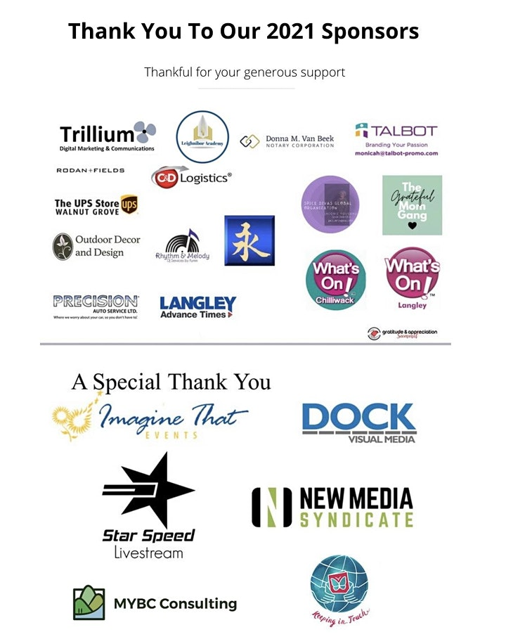 2nd Annual Gratitude & Appreciation Summits International - G.A.S. image