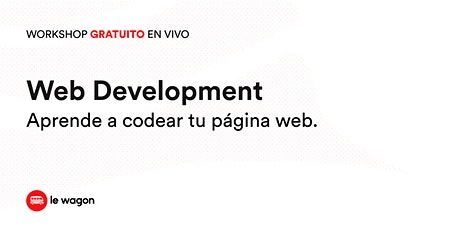 Web Development | Workshop Gratuito entradas
