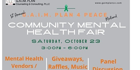 G.A.I.M. Plan for Peace Community Mental Health Fair tickets