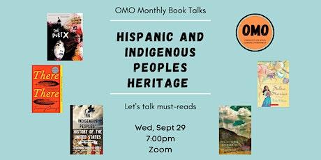 Hispanic Heritage and Indigenous Heritage tickets