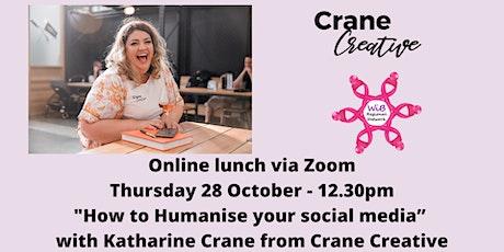 Women in Business Regional Network Online lunch - Thursday 28/10/2021 tickets