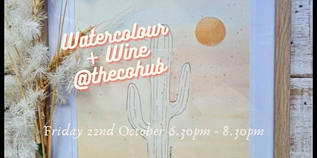 Watercolour + Wine @thecohub tickets