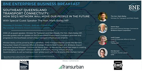 Business Breakfast with Minister for Transport & Main Roads Hon Mark Bailey tickets