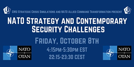 NATO-SCS Speaker Series: NATO Strategy & Contemporary  Security Challenges tickets