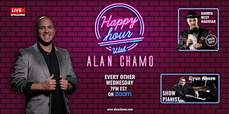 Happy Hour with Alan Chamo  | featuring  Magician Darren Dizzy tickets