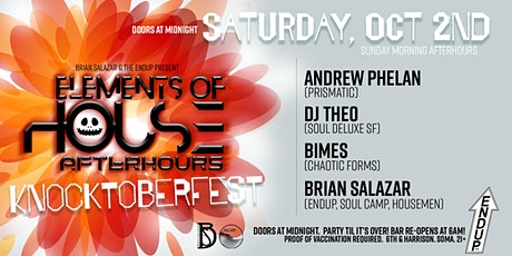 Brian Salazar & The EndUp Presents Elements of House Afterhours tickets