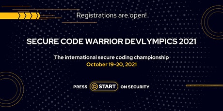 Devlympics: International Secure Coding Tournament tickets