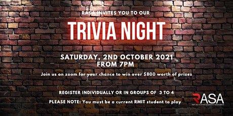 RASA Trivia Night tickets