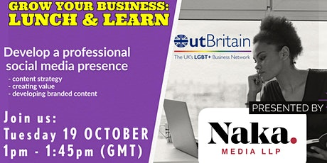Lunch and Learn: Develop a Professional  Social Media presence tickets