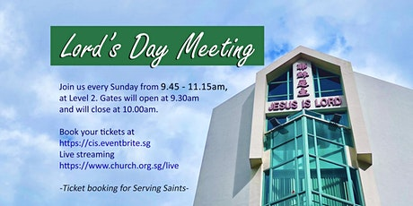 Serving Saints - (OCT) 9.45AM Lord's Day Meeting tickets