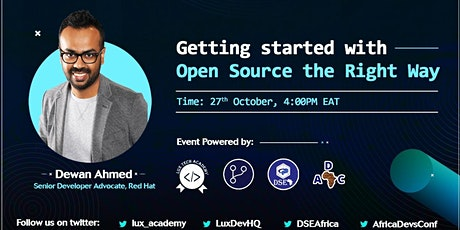 Getting Started with Open Source The Right Way tickets