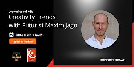 Creativity Trends with Futurist Maxim Jago tickets
