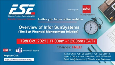 Overview of Infor SunSystems   (The Best Financial management Solution) tickets