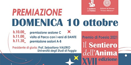 Premiazione Concorso Nazionale di Poesia IL SENTIERO DELL'ANIMA 2021 biglietti