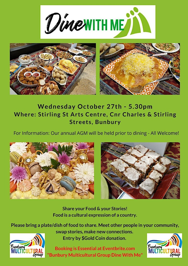 BUNBURY MULTICULTURAL GROUP - DINE WITH ME 27th Oct21 image