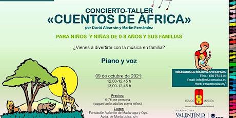 """Concierto-Taller  """"Cuentos de África"""" - Pase 1 entradas"""