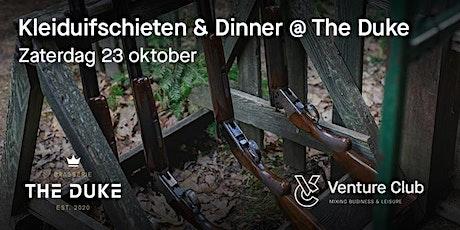Venture Club - Kleiduif Schieten & Dinner tickets