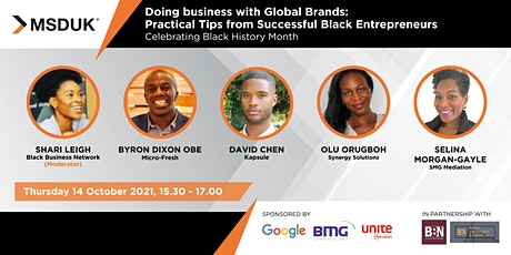 Doing Business with Global Brands: Tips from Successful Black Entrepreneurs tickets