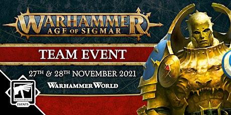 Warhammer Age of Sigmar Team Event tickets