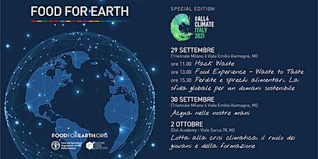 Perdite e sprechi alimentari. La sfida globale per un domani sostenibile. biglietti