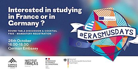 Erasmus Days Denmark 2021 : Study in France or Germany tickets