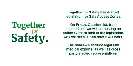 Together for Safety - Draft Legislation Launch tickets