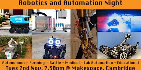 Robotics and Automation Night tickets