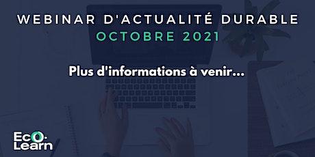 Webinar d'actualité durable · Octobre 2021 tickets