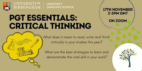 PGT Essentials: Critical Thinking tickets