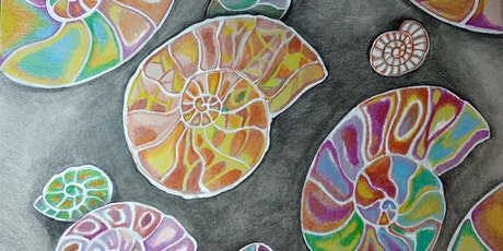 Patterns of nature in charcoal, pastels and pencils for complete beginners tickets
